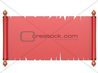 Red scroll paper