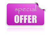 Special offer purple sticker
