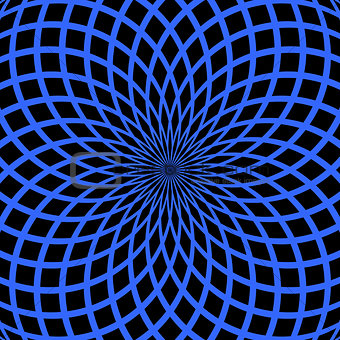 Abstract blue background. Rotation pattern.