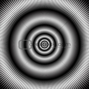 Abstract circular backdrop.
