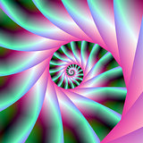 Pink and Green Spiral Steps