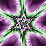 Star in Purple and Green