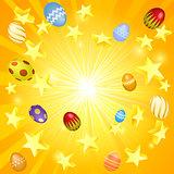 Easter banner background