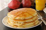Pancakes closeup