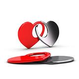 Love Card - Heart Shapes Union