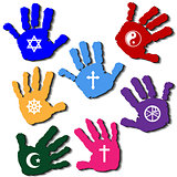 Hands of believers