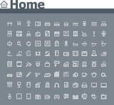 Home related icon set
