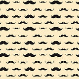 Mustache Vector Seamless Pattern