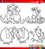 valentine cartoon themes for coloring