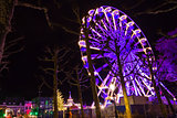 Turning Ferris wheel on achristmas market, Maastricht, the Nethe