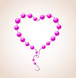 Heart of bead for Valentine's day