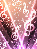 abstract music notes blurry background