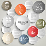 Abstract colored round info graphic business template