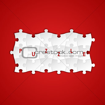 Abstract white group puzzle background