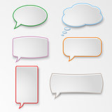 Colorful set speech bubbles