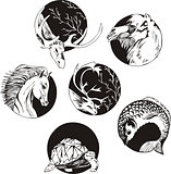 round designs with animals