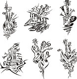 stylized music emblems