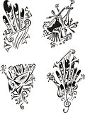 stylized music emblems - folklore