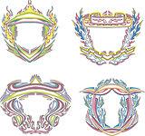 stylized decorative flaming frames