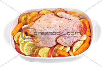 Fresh chicken.
