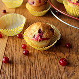 fresh muffin with cranberries