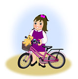 Little Girl with Bike