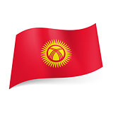 State flag of Kyrgyzstan.