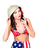 Smoking hot American military pin-up girl