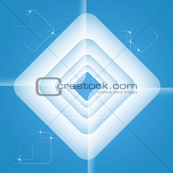 Abstract futuristic background. Blue rectangles