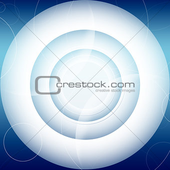 Abstract futuristic background. Blue circles