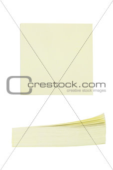 Office of yellow paper stickers