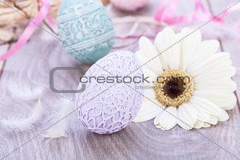 beautiful easter egg decoration colorfull eggs seasonal pastel
