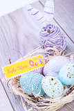 festive traditional easter egg decoration