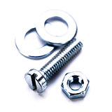 silver steel hexagonal screw tool objects macro