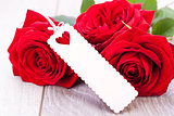 Valentines gift of beautiful red roses