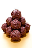 collection of different chocolate pralines truffels