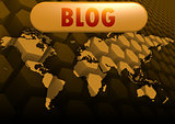 Blog world map