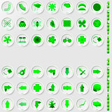 set of environmental icons, abstract vector illustration