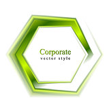Bright green tech logo