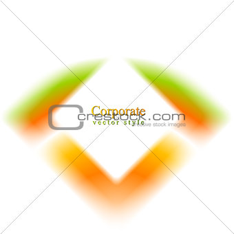 Abstract colorful vector shape design