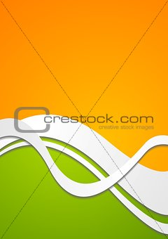Bright wavy vector background