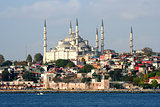 A view from istanbul-mosque and bosphorus