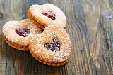 Linzer Cookie close up.
