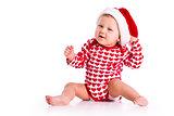 baby in Santa's hat