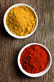 various colored spices