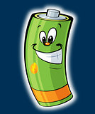 Happy cartoon battery