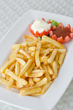 french fries on dish