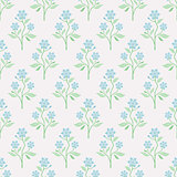 Seamless floral background with blue flowers.