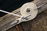 Beautiful Swirled Curled Rope Boat Bow Line Nautical Tie Down