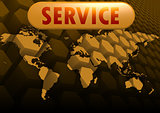 Service world map